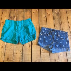 Set of Girls size 8 shorts